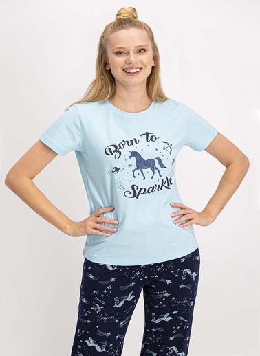 Arnetta Pijama Takım Mavi